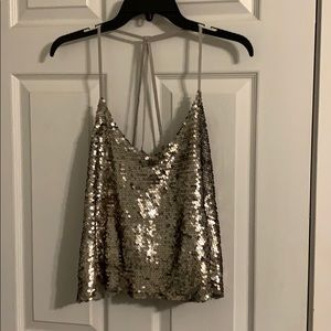 Hollister sequin strapping top!